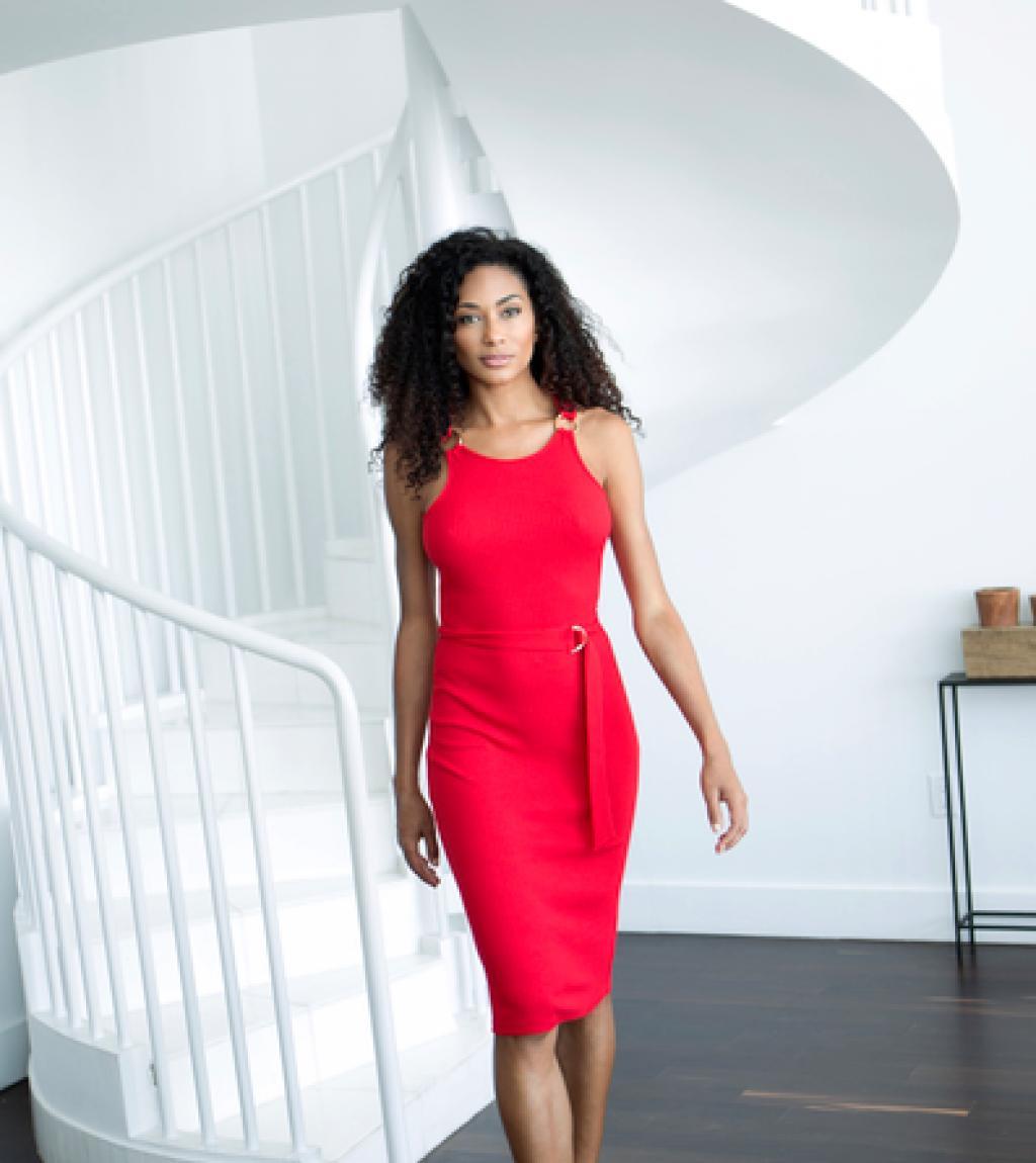 red dress walking .png